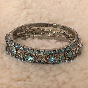 Blue stretch bracelets